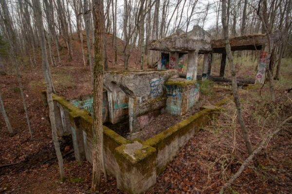 PA Ghost town of Scotia ruins in the woods