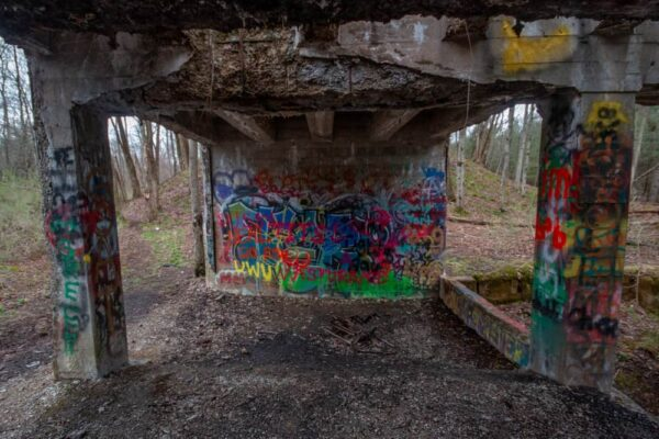 Graffiti at the Scotia Ruins in PA