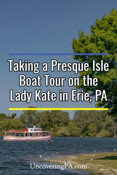 Taking a Presque Isle Boat Tour on the Lady Kate in Erie, Pennsylvania