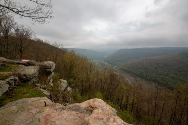 View from Band Rock Vista in Lycoming County, Pennsylvania