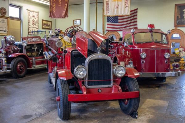 Fire engines at the Fire Museum of York County in York, PA
