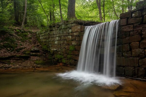 Henry Run Sawmill Dam Waterfall in Cook Forest State Park