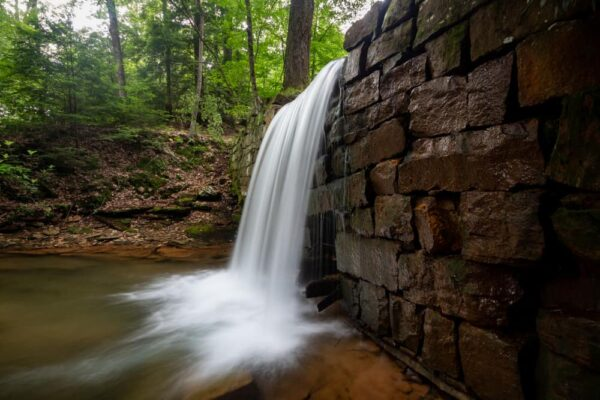 Waterfall in Cook Forest State Park in Pennsylvania