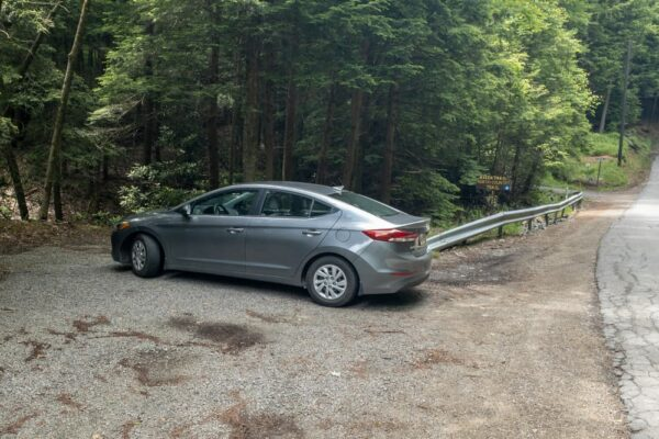 Parking for the NCT in Cook Forest State Park
