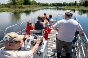 Exploring Presque Isle State Park on a Free Pontoon Boat Tour