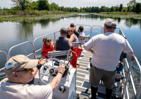 Free pontoon boat tours in Presque Isle State Park