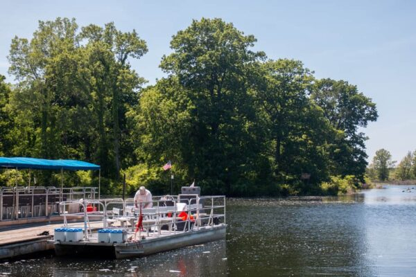 The free pontoon boat tours at Presque Isle leave from this dock