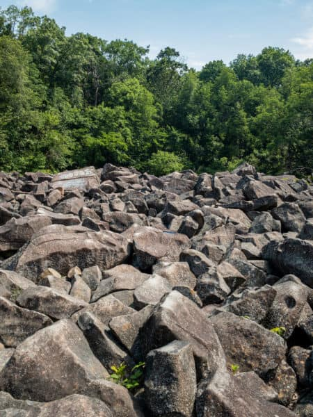 Boulder Field at Ringing Rocks Park in Pottsgrove PA