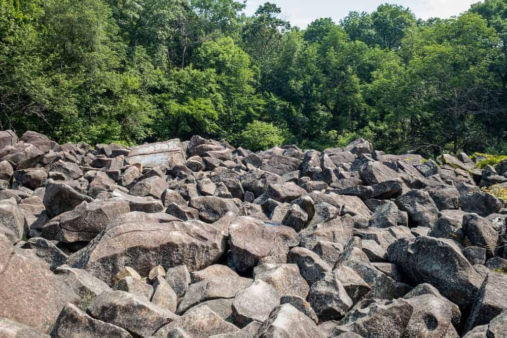 Ringing Rocks Park in Pottstown, PA