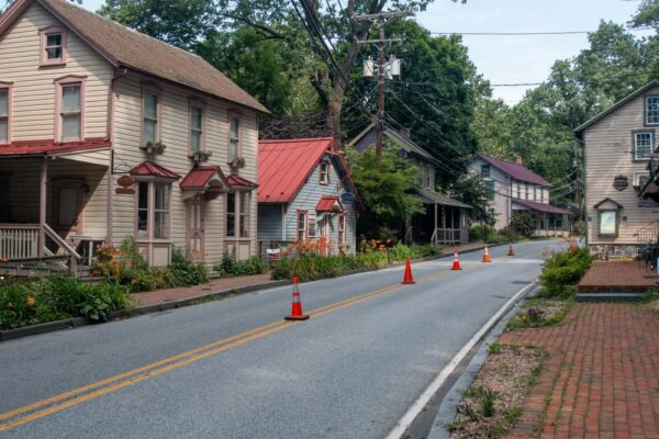 The main road through St Peters Village, PA