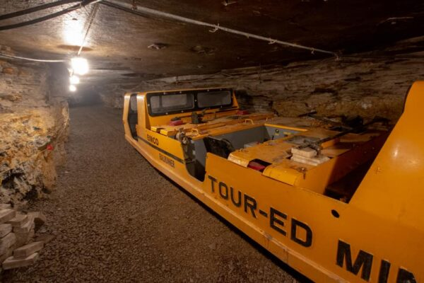 Car that takes you into the Tour-Ed Mine near Pittsburgh, Pennsylvania