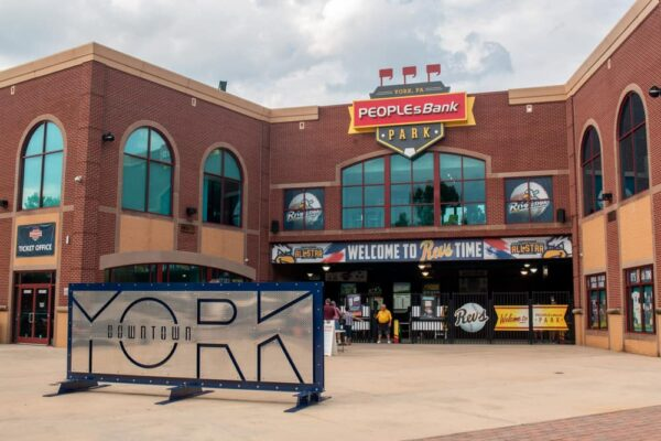 Entrance to PeoplesBank Park in York, Pennsylvania