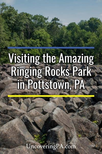 Ringing Rocks Park in Pottstown Pennsylvania