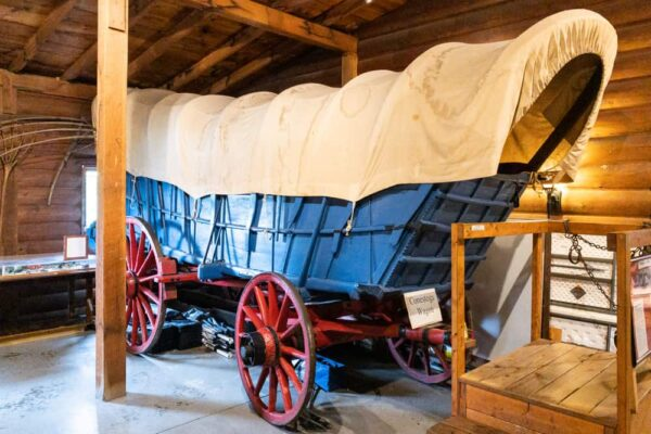 Conestoga Wagon at the Fort Bedford Museum in PA