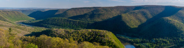 Panoramic image from Hyner View State Park in Pennsylvania