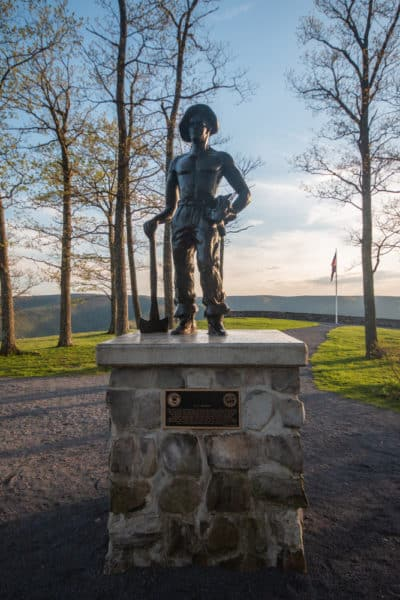 Iron Mike Monument at Hyner View State Park in Renovo PA