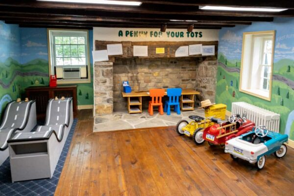Kids play area at the Lincoln Highway Experience in Westmoreland County, Pennsylvania