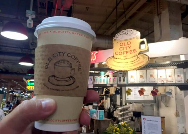 Old City Coffee in Reading Terminal Market in Philadelphia, Pennsylvania