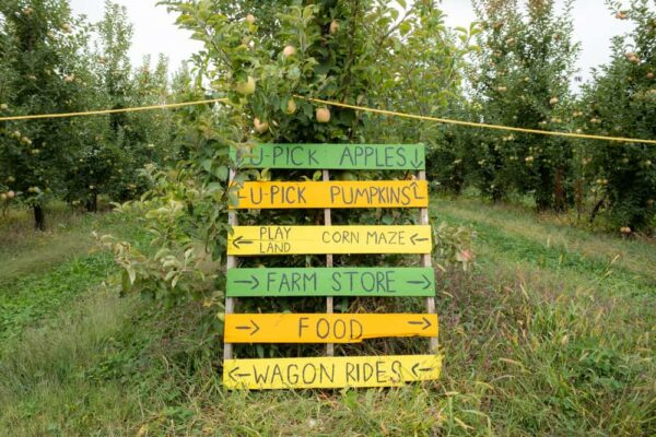 Sign of things to do at Paulu's Orchard in York County PA