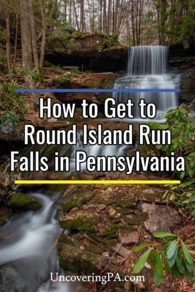 Round Island Run Falls in Pennsylvania's Sproul State Forest