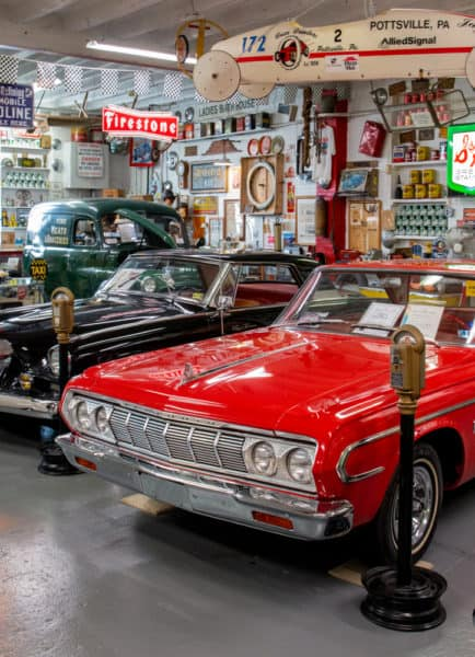 Antique Automobile on display at Jerry's Classic Cars and Collectables Museum in Schuylkill County PA
