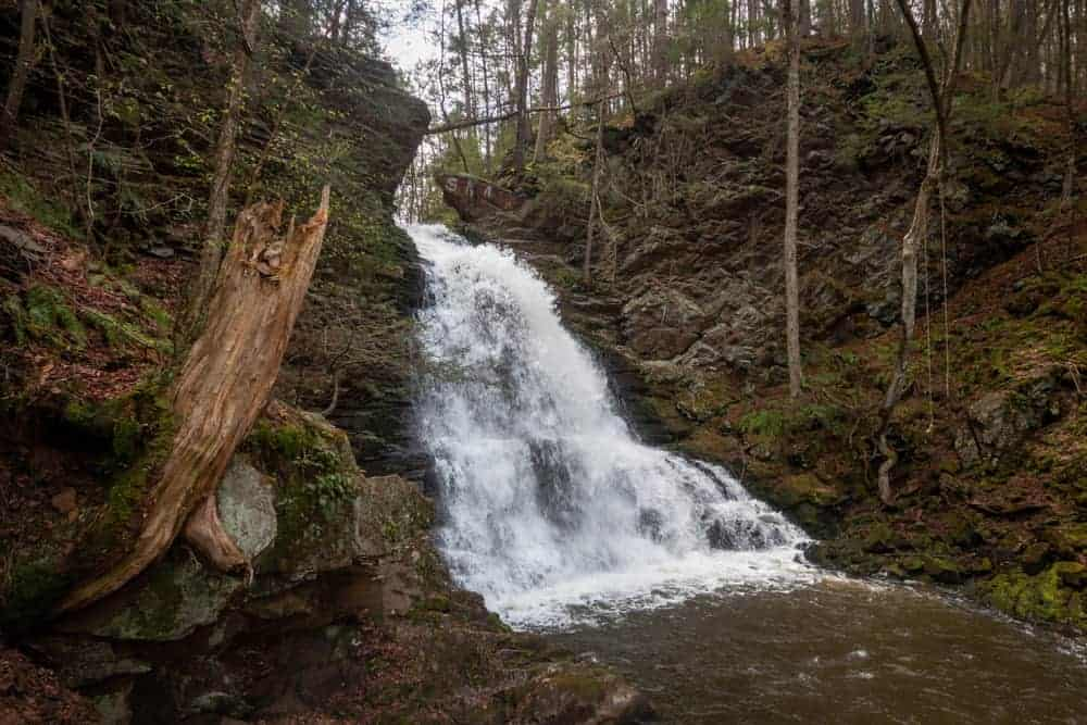 Hiking to Little Shickshinny Falls in Luzern County PA