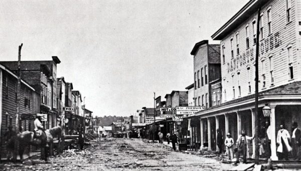 Historic photo of the Pennsylvania ghost town of Pithole