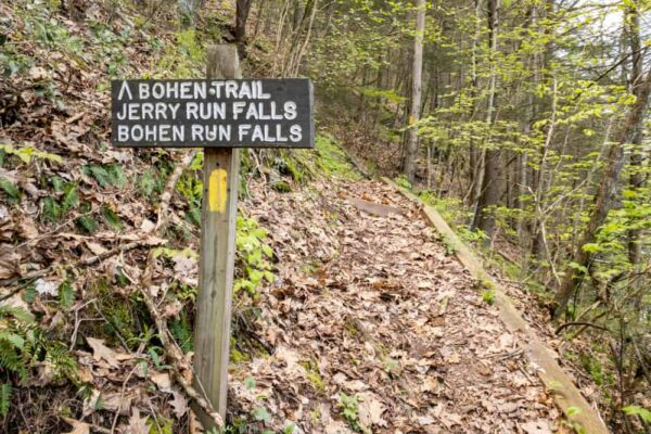 Bohen Falls Trailhead in Blackwell PA