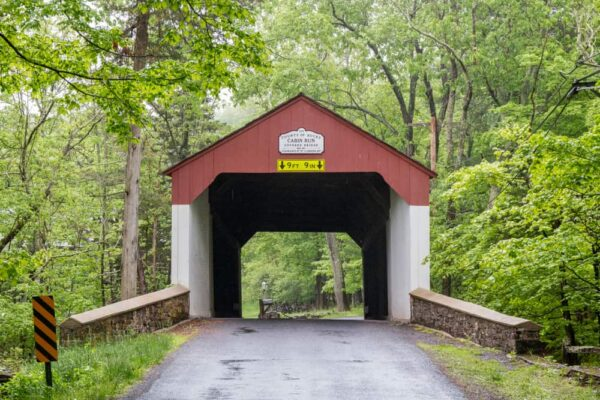 Cabin Run Covered Bridge in Bucks County Pennsylvania