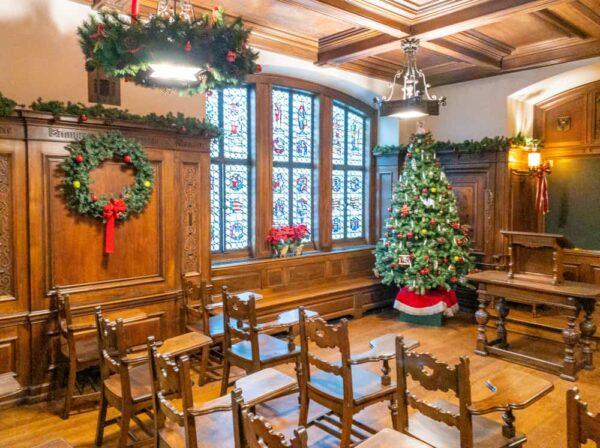 Christmas at the Cathedral of Learning in Pittsburgh Pennsylvania