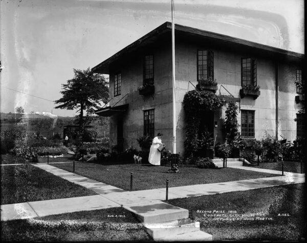 Historical photo of home in Concrete City in Nanticoke PA