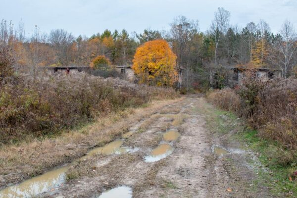 The old roads through Concrete City in Nanticoke Pennsylvania
