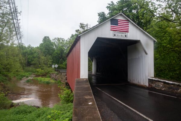 Erwinna Covered Bridge in Upper Bucks County PA