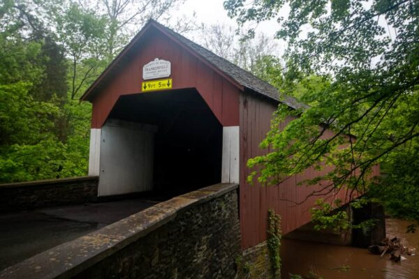 Frankenfield Covered Bridge in Bucks County PA