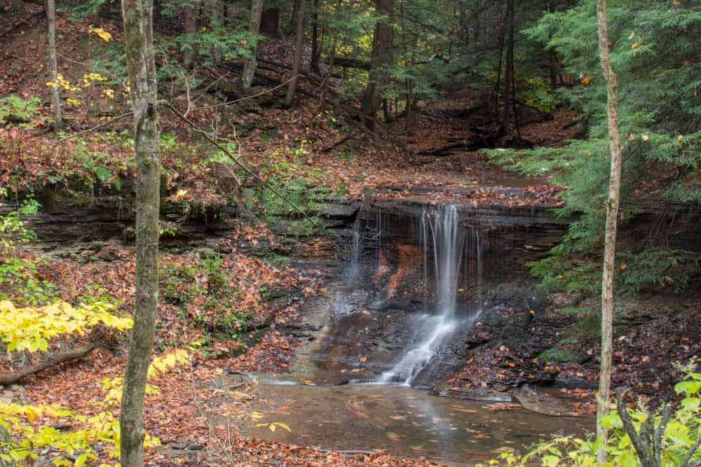 Grindstone Falls in McConnells Mill State Park in Pennsylvania