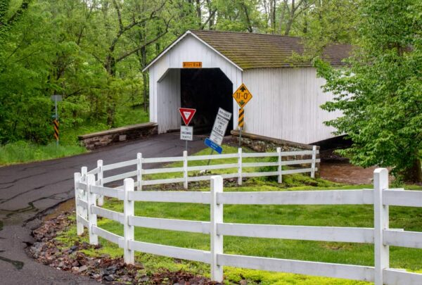 Loux Covered Bridge in Bucks County PA