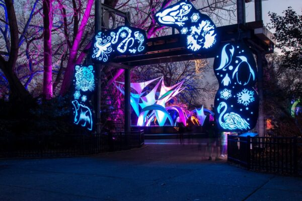 The entrance to LumiNature at the Philadelphia Zoo.