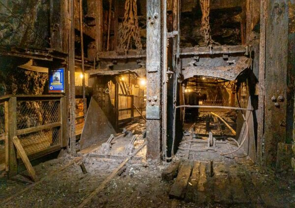 Anthracite Cage Shaft at the No 9 Coal Mine in Lansford PA