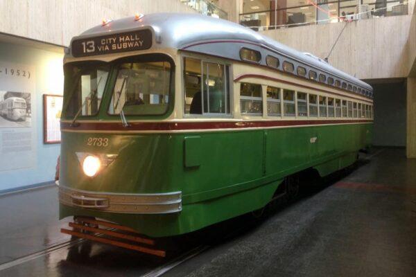 Trolley inside Philadelphia's SEPTA Transit Museum