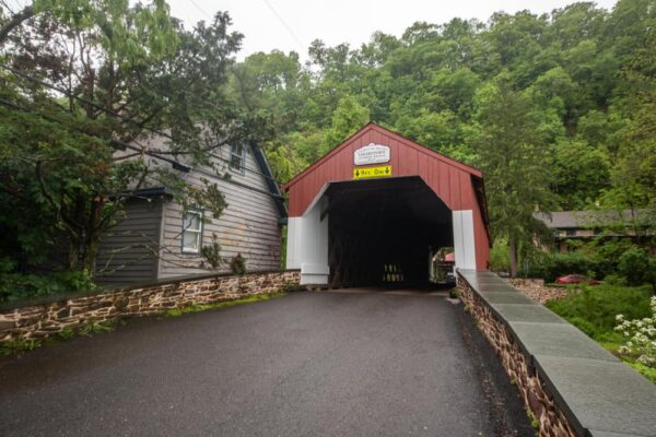 Uhlerstown Covered Bridge in Bucks County PA