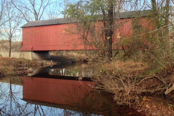 Van Sandt Covered Bridge near Washington Crossing Historic Park.