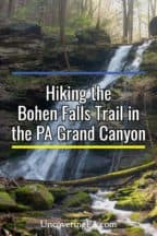 Bohen Falls Trail in the Pennsylvania Grand Canyon