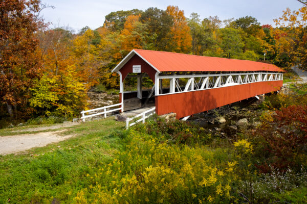 Barronvale Covered Bridge in Somerset County, Pennsylvania