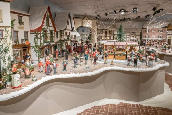 Dioramas of Byers Carolers at the Christmas Museum in Chalfont, Pennsylvania