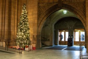 Celebrating Christmas at the Cathedral of Learning in Pittsburgh
