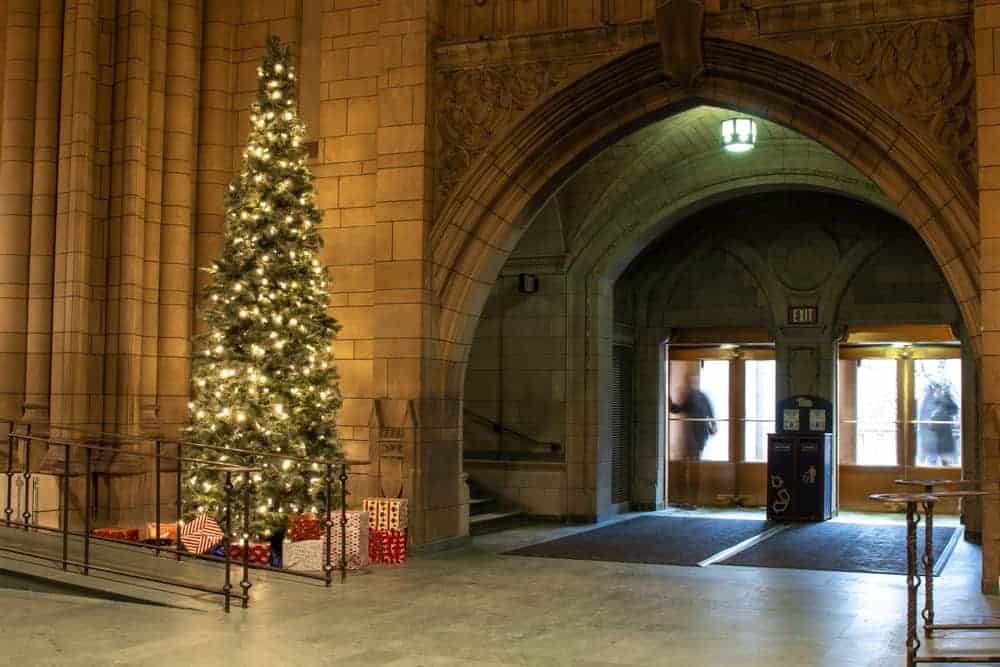Christmas at the Cathedral of Learning in Pittsburgh PA