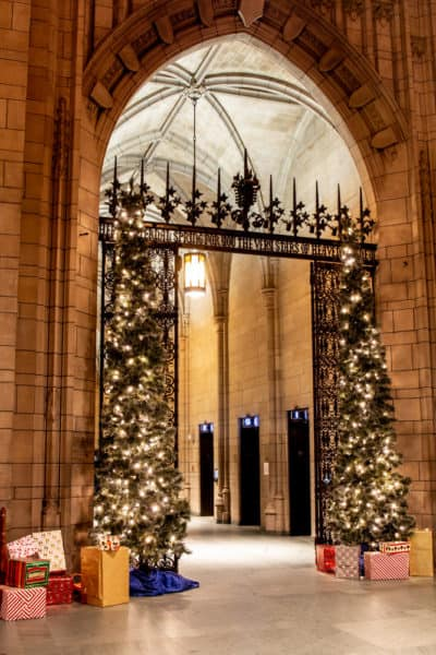 Christmas at the Cathedral of Learning in Oakland PA