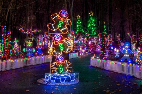 Pathway through Christmas Magic in York PA