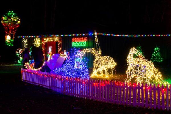 Santa lights at Rocky Ridge's Christmas Magic