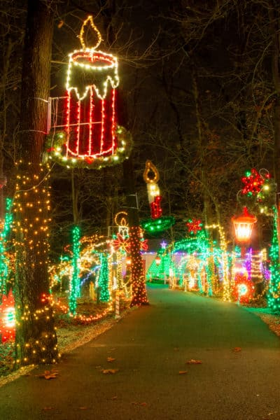 Rocky Ridge Christmas lights in York Pennsylvania